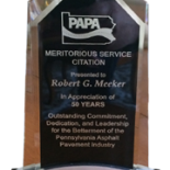Bob Meeker honored by PAPA for 50 years of service